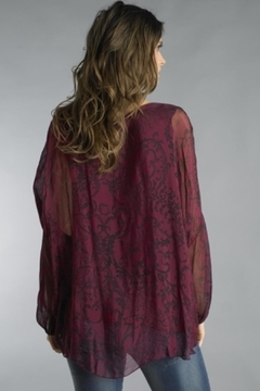Tempo Paris Sequined Bordeaux Tunic - Alternate List Image