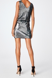 Nicole Miller Sequined Silver Dress - Front full body