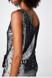 Nicole Miller Sequined Silver Dress - Side cropped