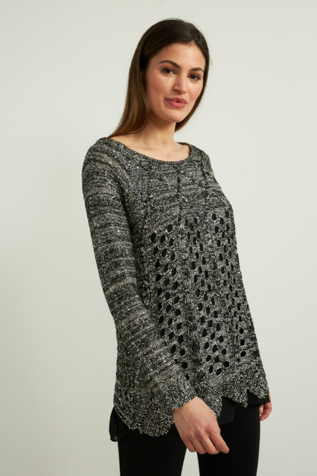 Joseph Ribkoff  Sequined Sweater - Side Cropped Image