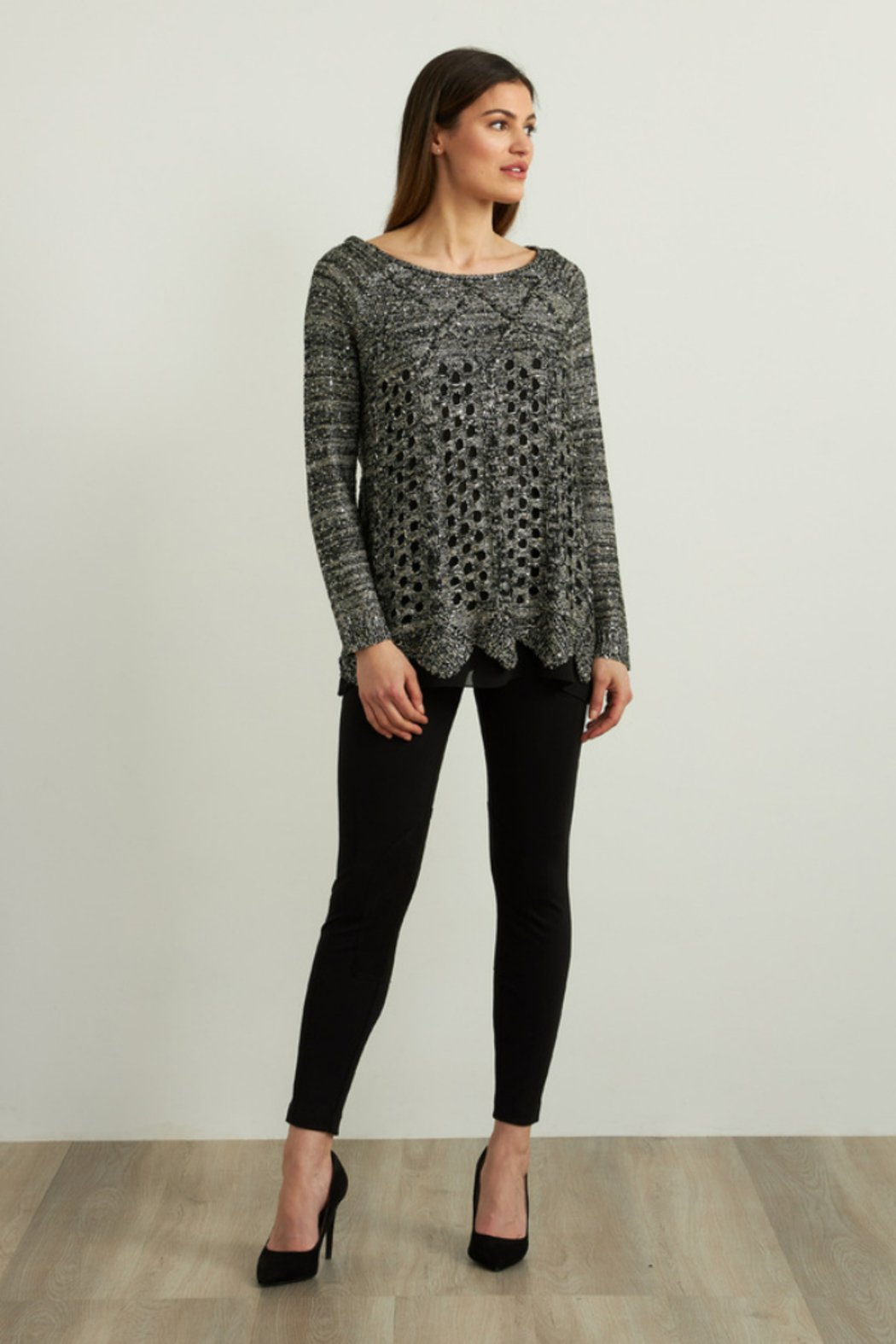 Joseph Ribkoff  Sequined Sweater - Back Cropped Image