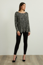 Joseph Ribkoff  Sequined Sweater - Back cropped