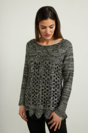 Joseph Ribkoff  Sequined Sweater - Front cropped