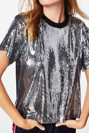 Nicole Miller Sequined Tee Shirt - Back cropped