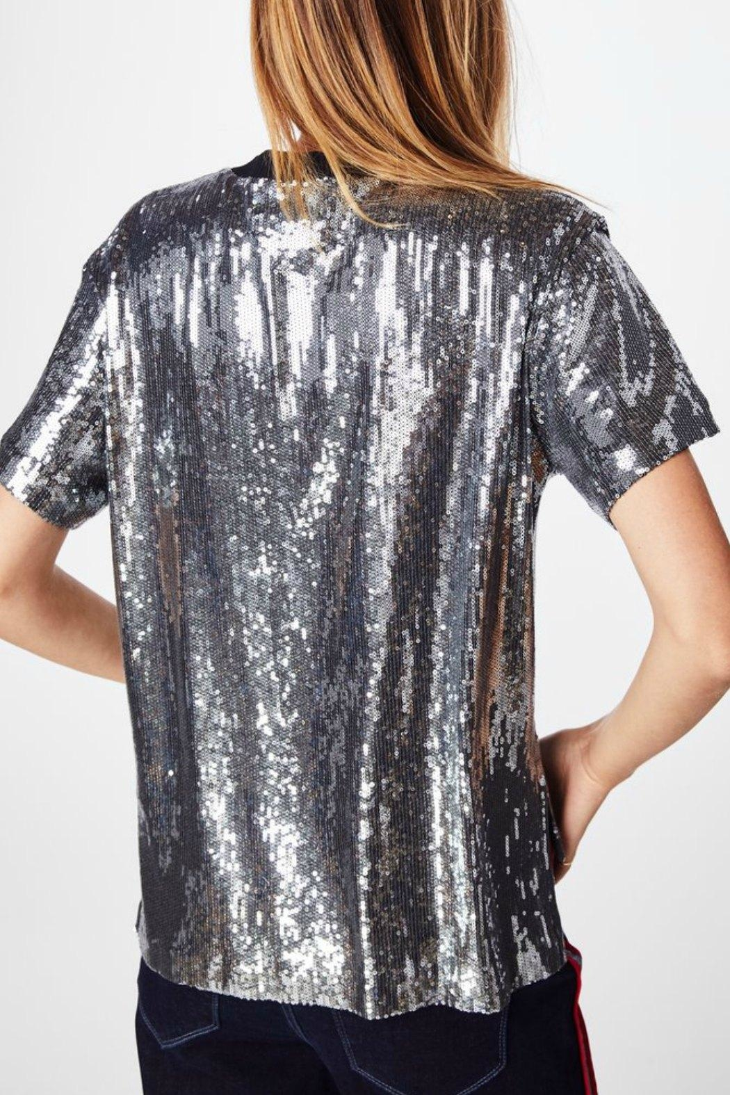 Nicole Miller Sequined Tee Shirt - Front Full Image