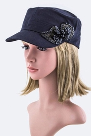 Nadya's Closet Sequins Bow Cadet-Cap - Product Mini Image