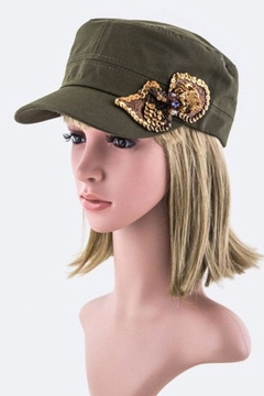 Shoptiques Product: Sequins Bow Cadet-Cap