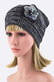Nadya's Closet Sequins Flower Beanie-Hat - Product Mini Image