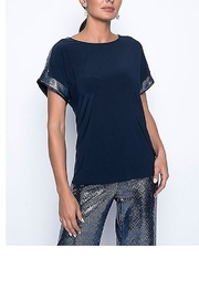 Frank Lyman Sequins Midnight Blue Top - Product Mini Image