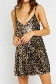Olivaceous  Sequins Minidress - Front cropped