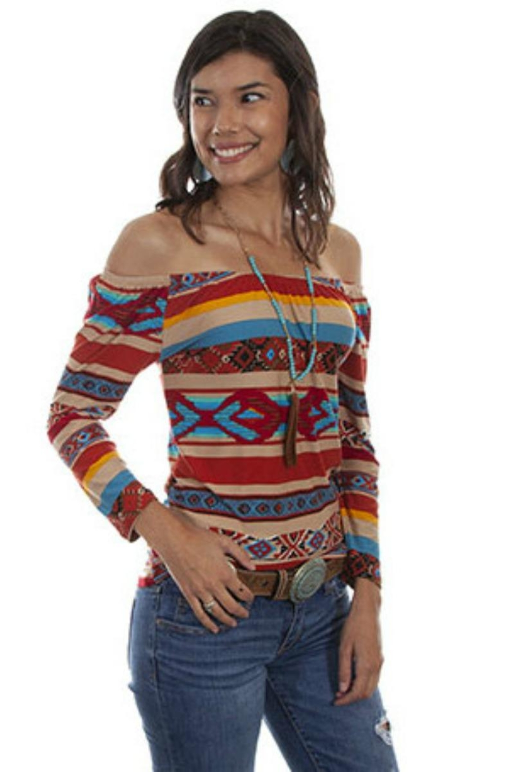 Scully Serape Ballet Top - Main Image