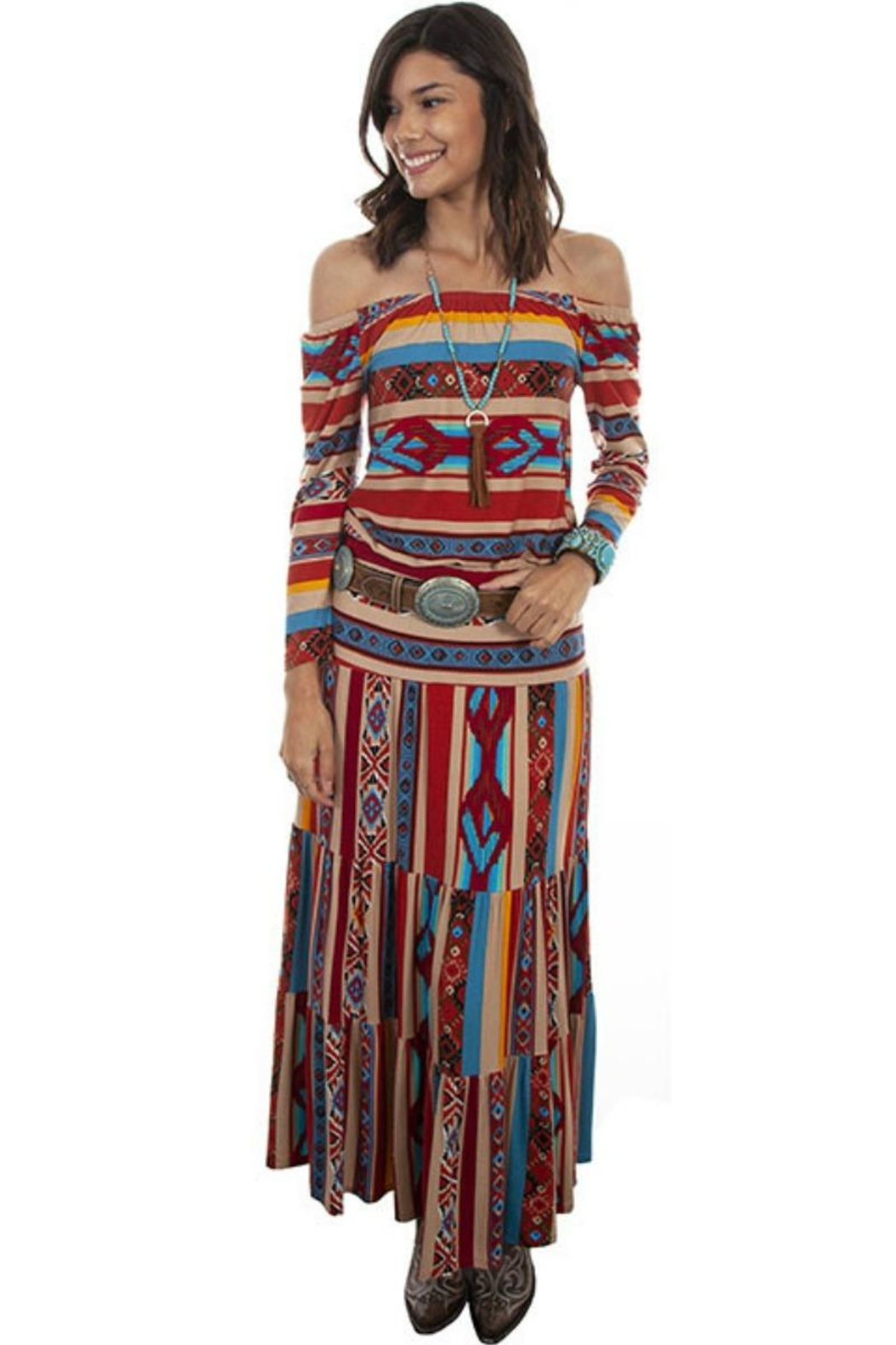 Scully Serape Ballet Top - Side Cropped Image