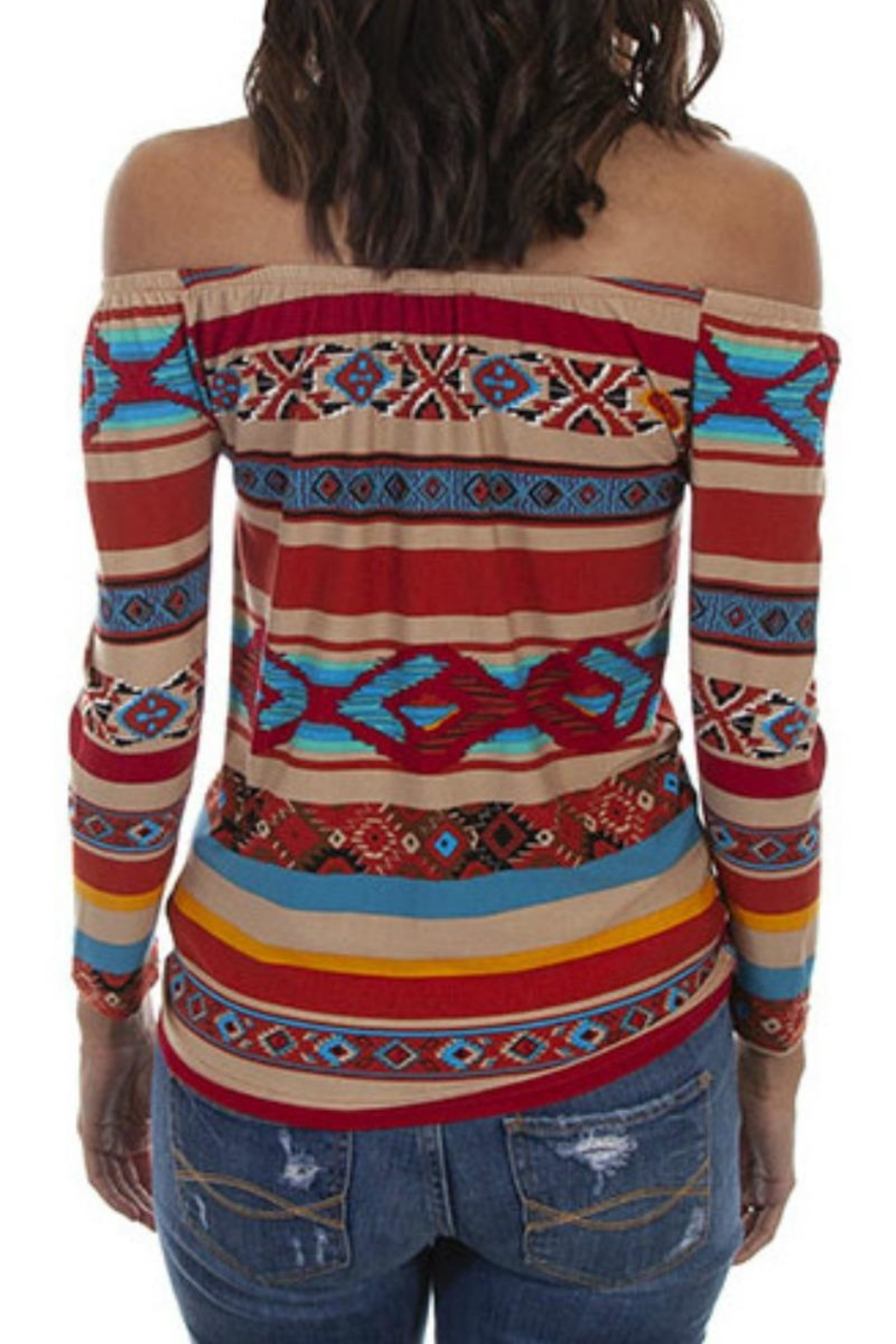 Scully Serape Ballet Top - Front Full Image