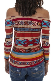 Scully Serape Ballet Top - Front full body