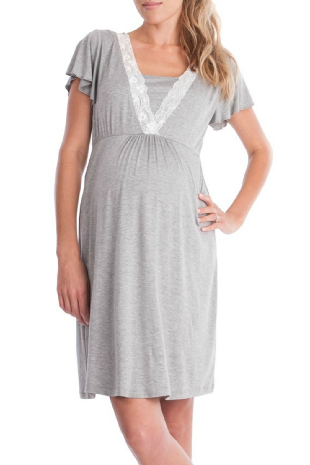 48f70695cc Seraphine Grey Nursing Sleep Gown Robe from Alabama by The Swanky ...