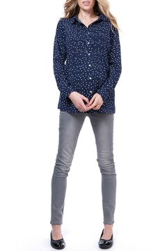 Shoptiques Product: Navy Dot Maternity Top