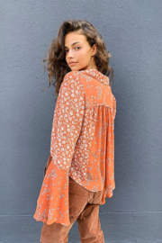 Free People  Serena Printed Blouse - Product Mini Image