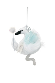 DEMDACO Serena-The-Swan-Queen-Ornament - Front cropped