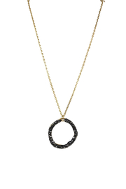 Fabulina Designs Serenity Pavé Necklace - Front cropped