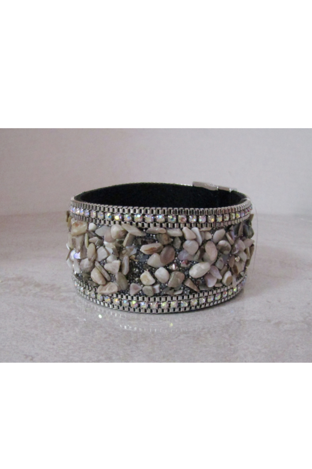 American Legacy Serenity Stone Bracelet - Taupe - Front Cropped Image