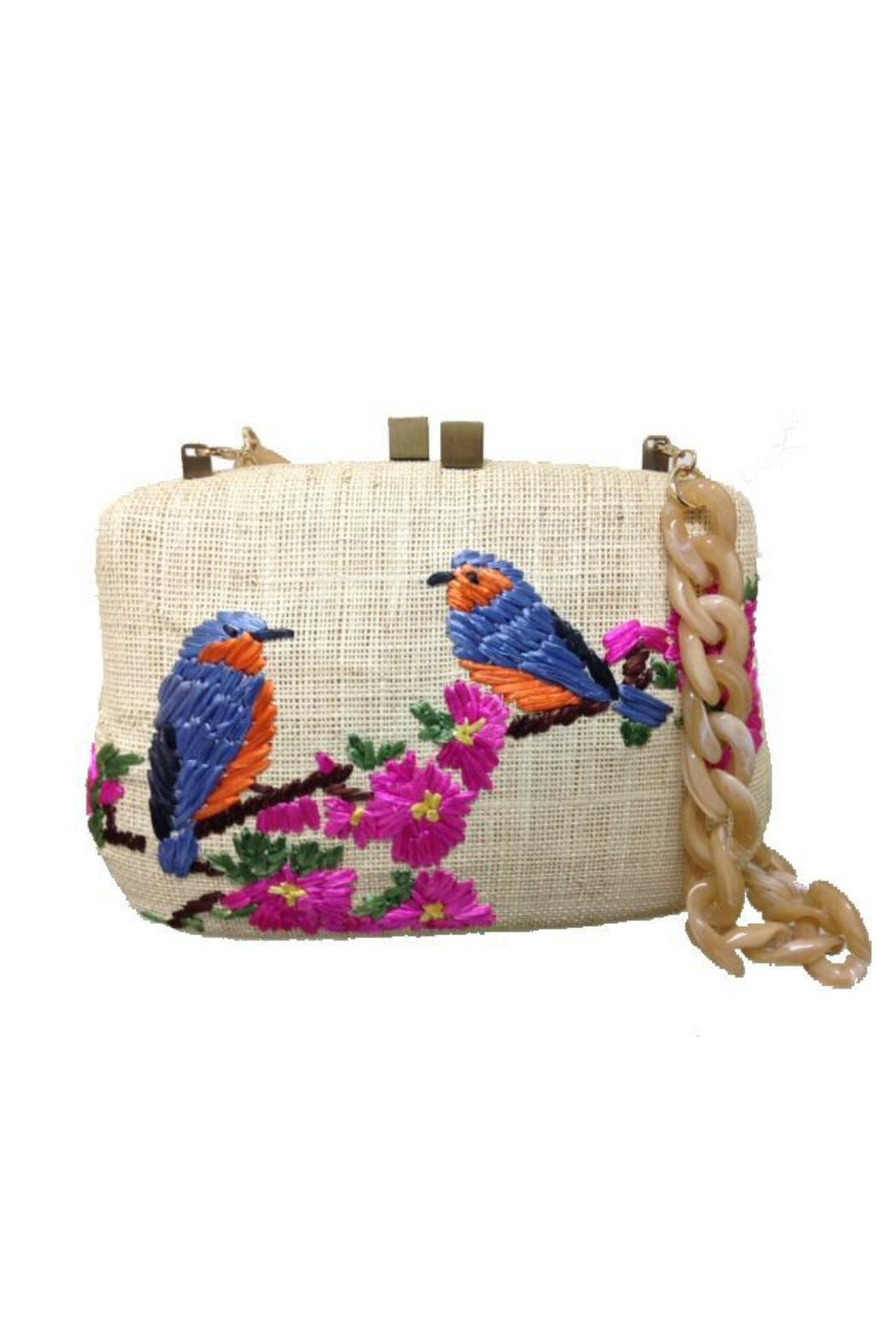 Serpui Marie Blair Bird Clutch - Front Cropped Image
