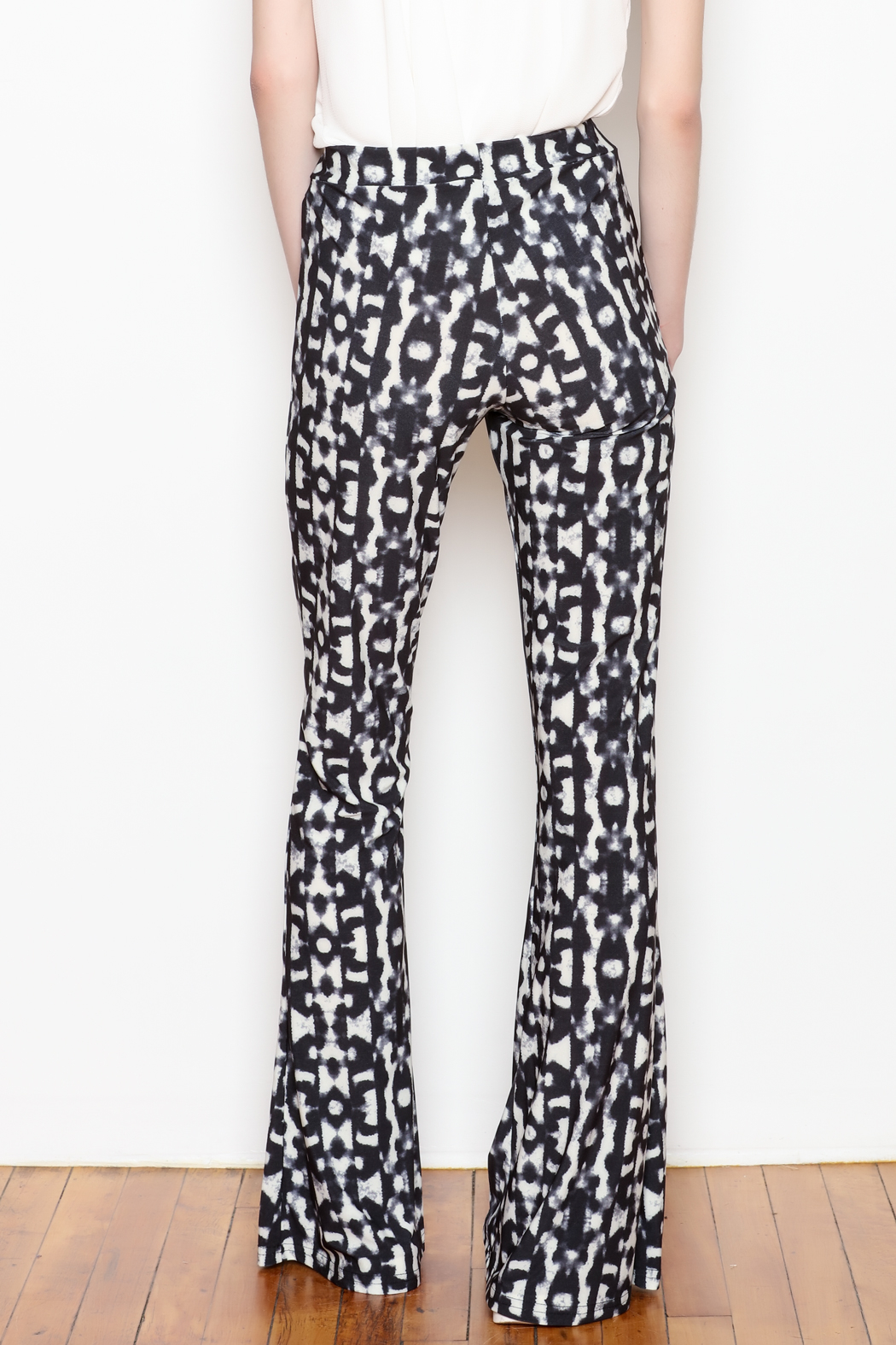 Viereck Serrano Print Flare Pull-on Pant - Front Full Image