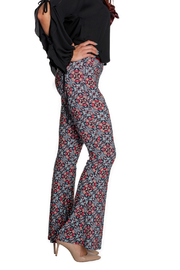 Viereck Serrano Print Flare Pull-on Pant - Front full body