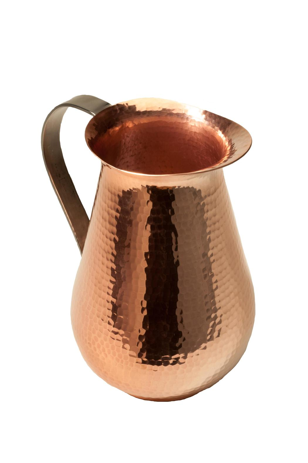 Sertodo Hammered Copper Jug - Front Full Image