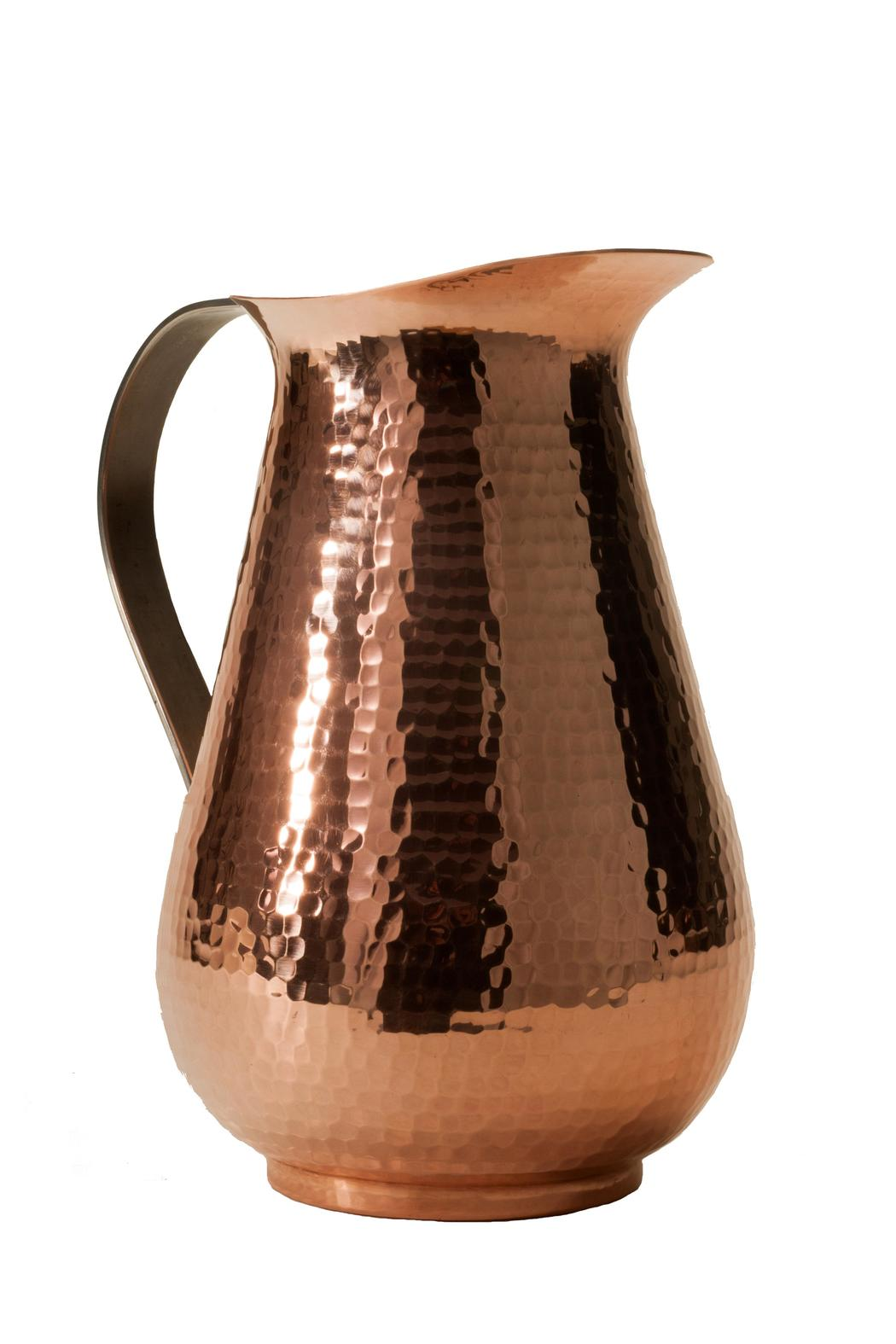 Sertodo Hammered Copper Jug - Front Cropped Image