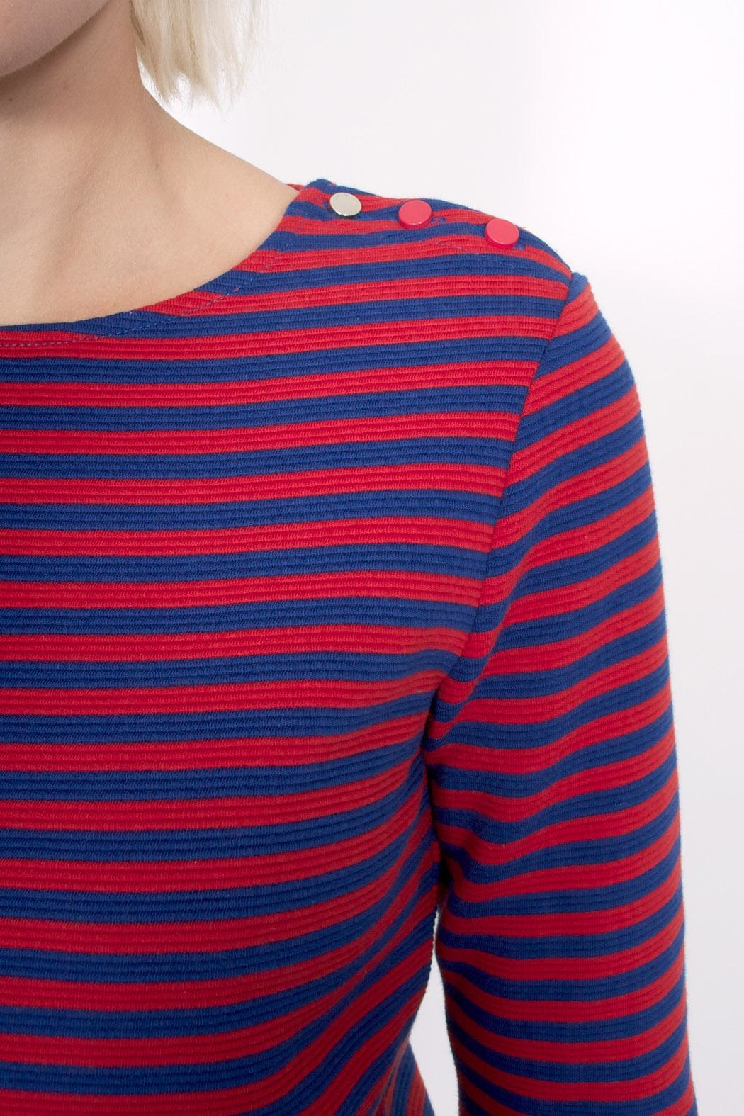 Sessun Emile Striped Top - Back Cropped Image