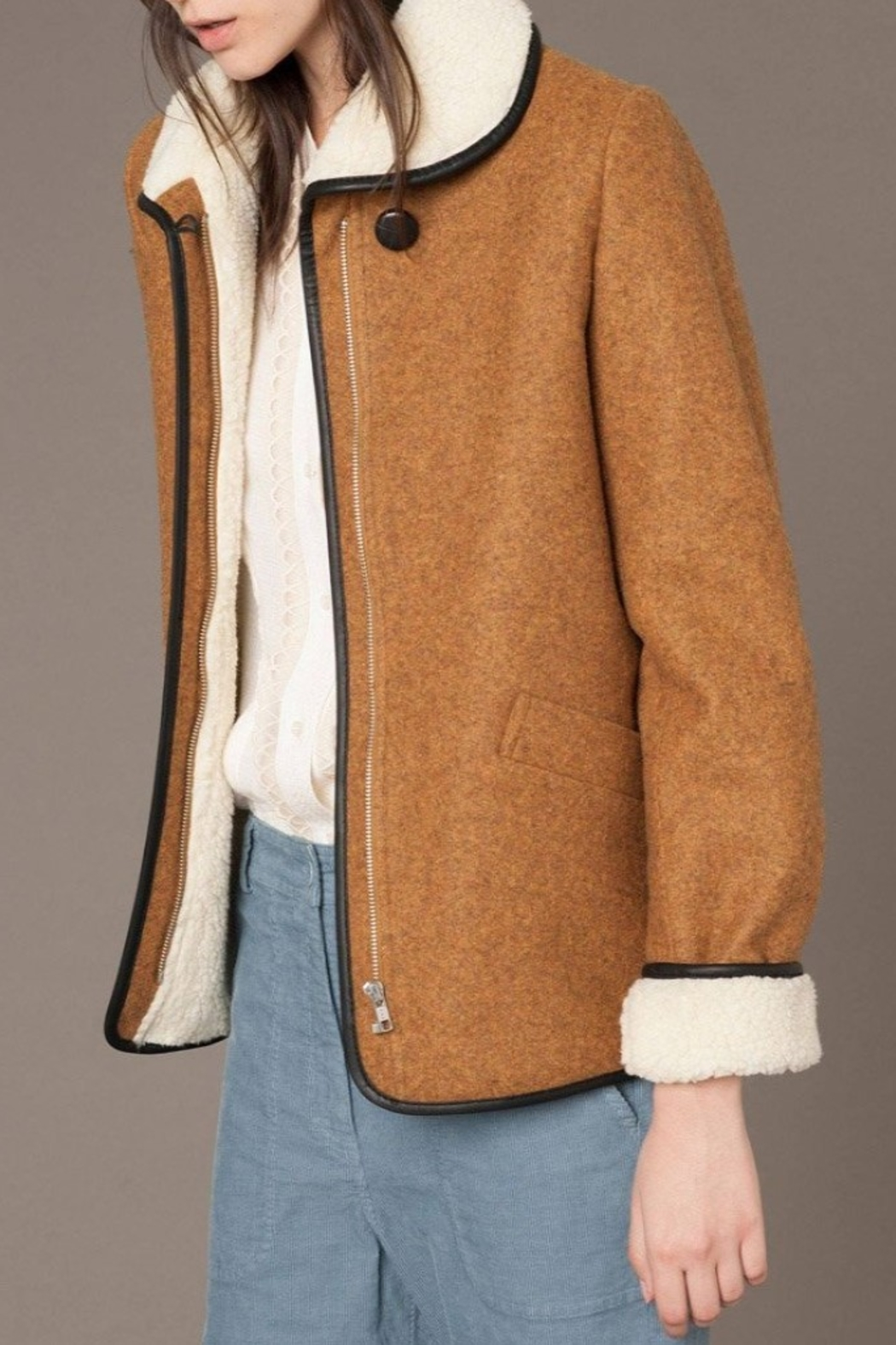 Sessun Paolo Shearling Coat - Front Full Image