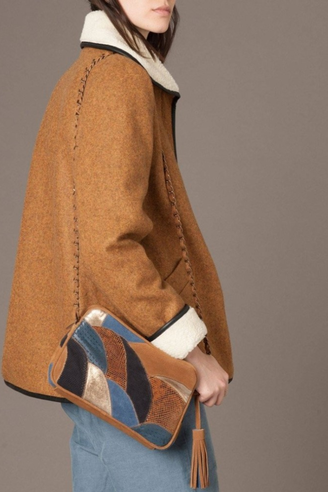 Sessun Paolo Shearling Coat - Side Cropped Image