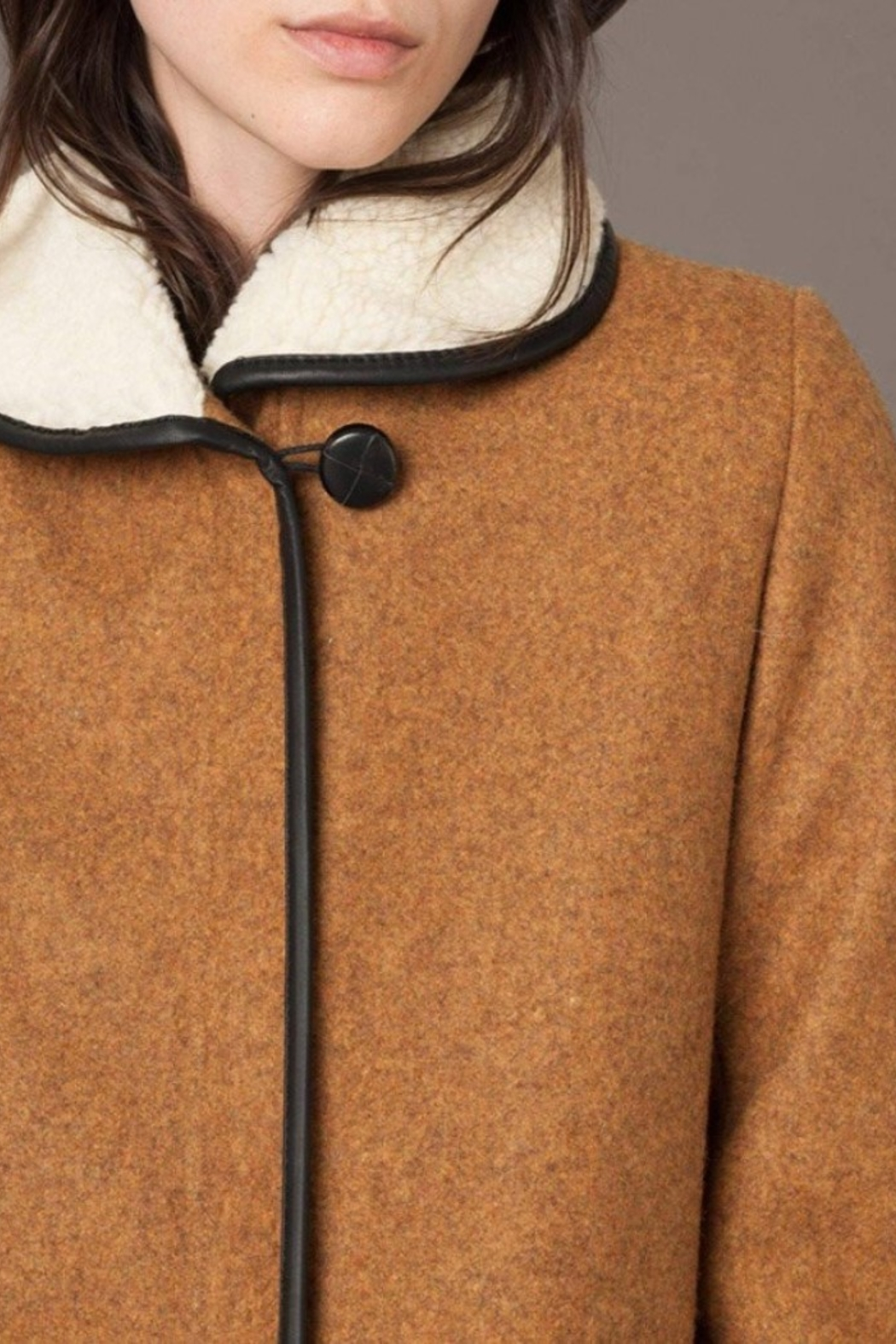 Sessun Paolo Shearling Coat - Back Cropped Image