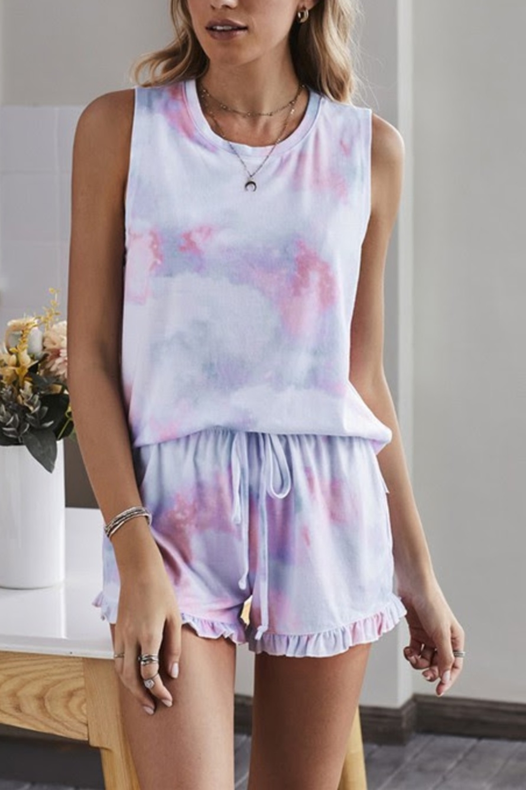 Shewin Set for Fun top/shorts - Front Cropped Image