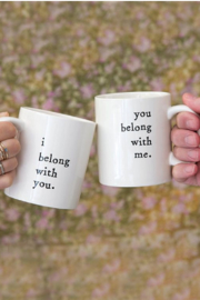 Natural Life Set of 2 Mugs I Belong With You/ You Belong With Me - Front cropped
