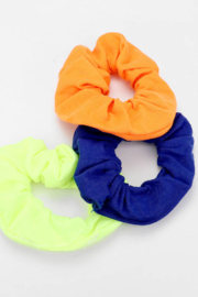 Lyn -Maree's Set of 3 - Neon Scrunchies - Front cropped