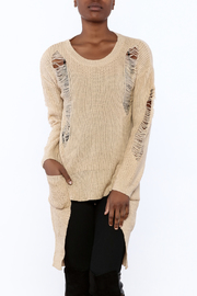 Shoptiques Product: Distressed Knit Tunic