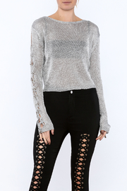 settle down Silver Long Sleeve Top - Product Mini Image