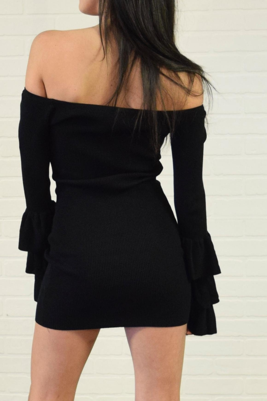 settle down Tiered Sleeve Dress - Side Cropped Image