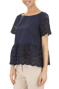 Seventy Cotton Navy Top - Product List Image