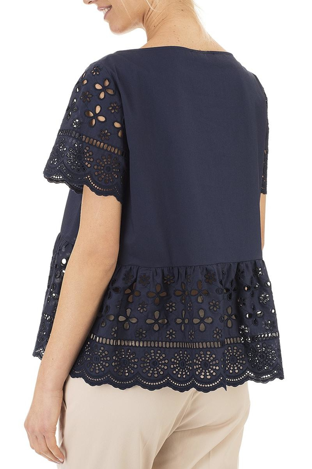 Seventy Cotton Navy Top - Front Full Image