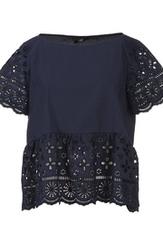 Seventy Cotton Navy Top - Side cropped