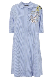 Seventy Iris Embroidery Dress - Product Mini Image