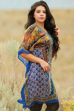 Sevya Colorful Crepe Kaftan - Alternate List Image