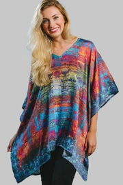 Sevya Colorful Satin Tunic - Product Mini Image