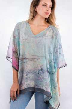 Sevya Crepe Poncho Top - Alternate List Image