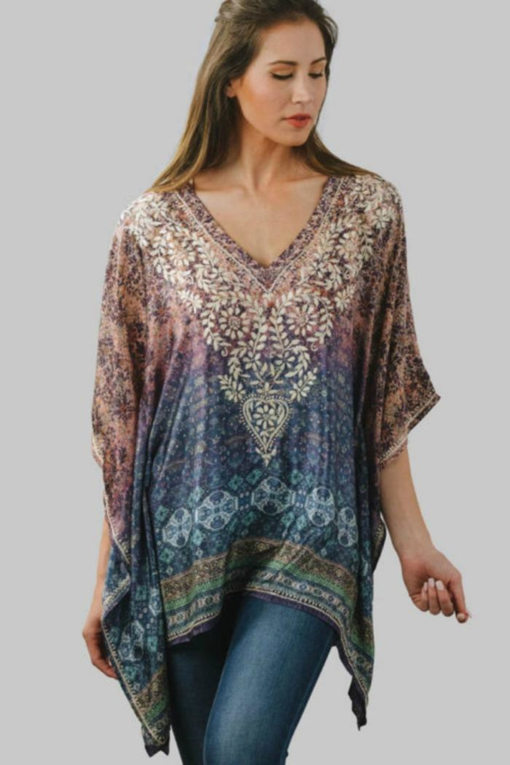 Sevya Embroidered Ombre Tunic - Main Image