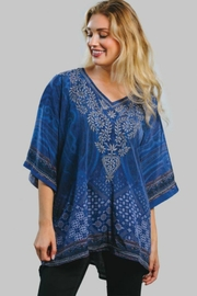 Sevya Embroidered Satin Tunic - Front cropped