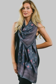 Sevya Floral Satin Scarf - Product Mini Image