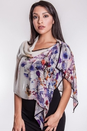 Sevya Floral Silky Scarf - Product Mini Image